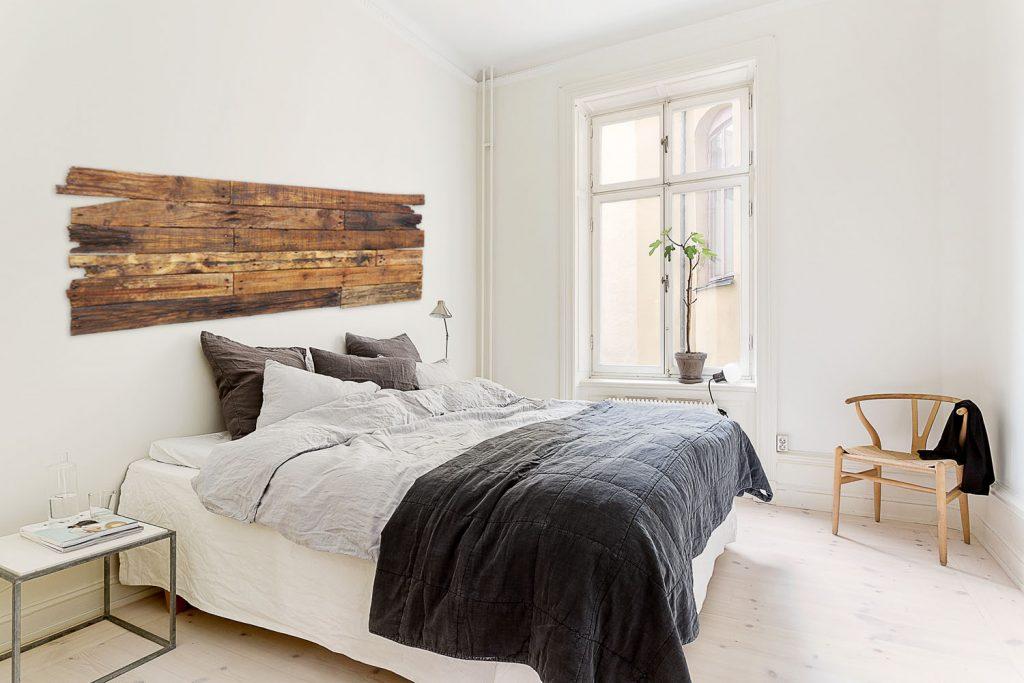 Cabecero cama r stico madera reciclada deskartes - Cabeceros de cama en madera ...