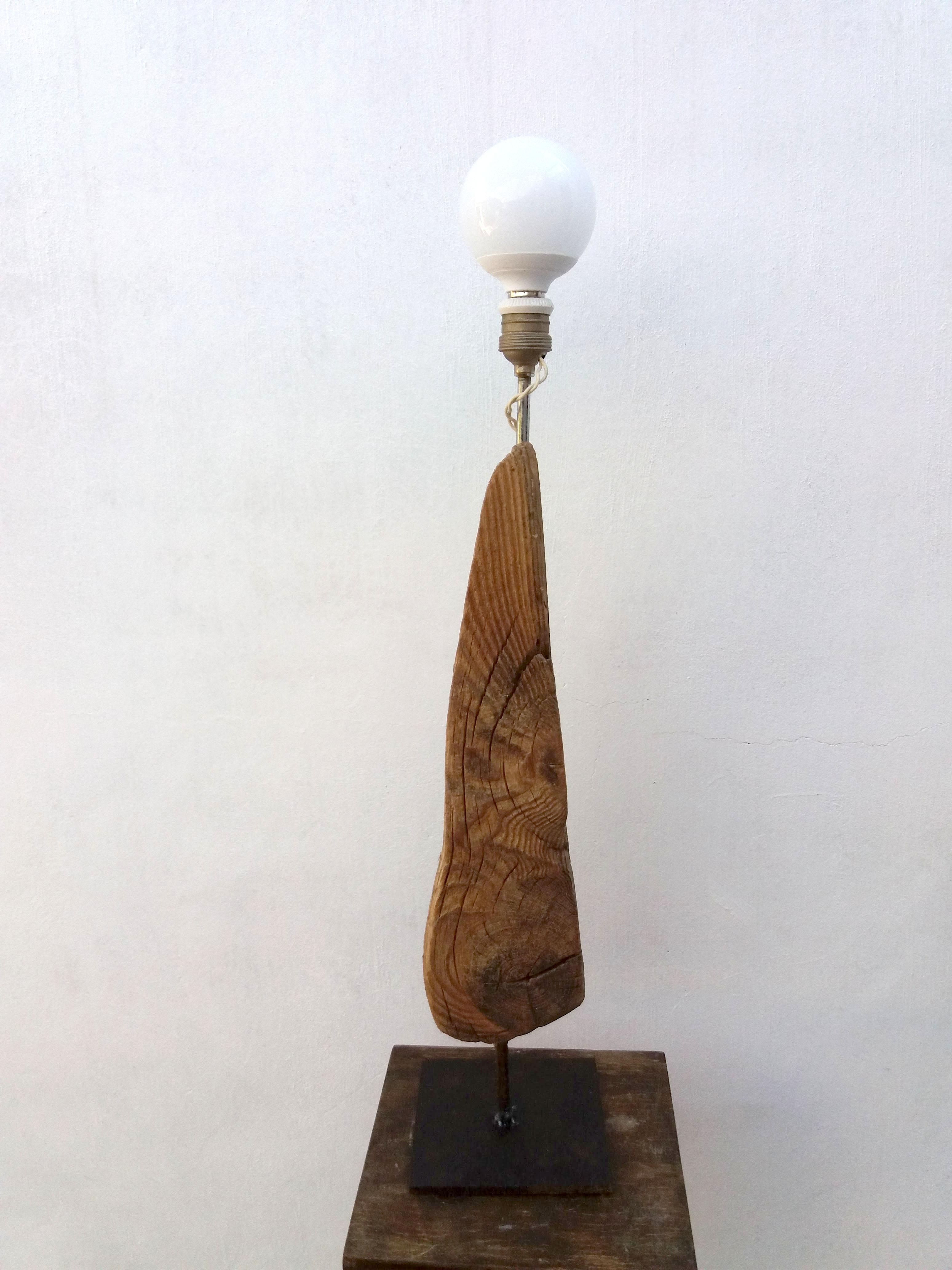 L mpara industrial vintage madera deriva reciclada deskartes - Lampara industrial vintage ...